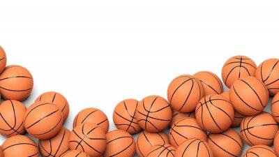 Fotomural Bolas de basquete isolado no fundo branco