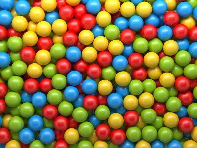 Fotomural bolas de várias cores de fundo