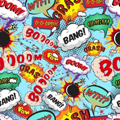 Fotomural Bolhas de Seamless padrão de fala em quadrinhos