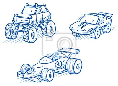 bonito conjunto de veículos carros de corrida monster truck