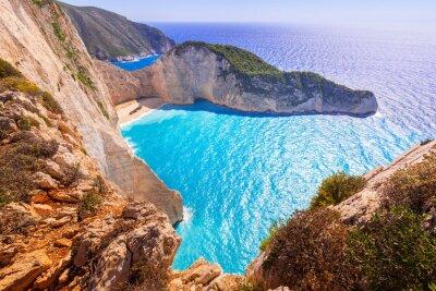Fotomural Bonito, navagio, praia, shipwreck, praia, zakynthos, ilha, grécia
