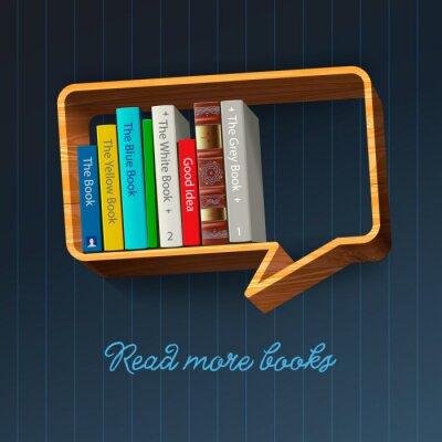 Fotomural Bookshelf forma de bolha do discurso, vetor Eps10 ilustração.