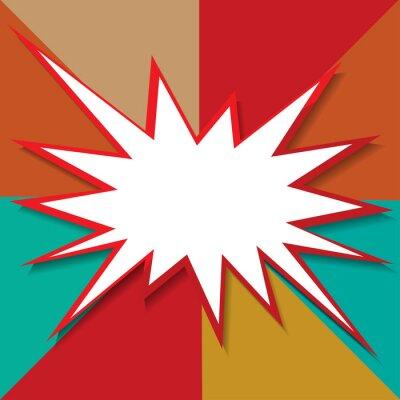Fotomural Boom ícone fundo ilustração vetorial