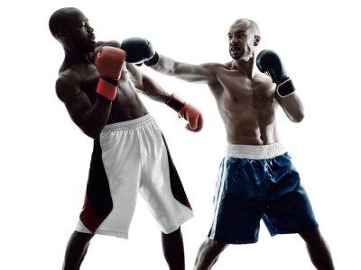 Fotomural boxers homens boxe isolado silhueta