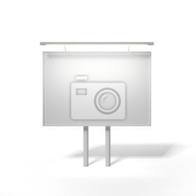 Fotomural Branco billboard