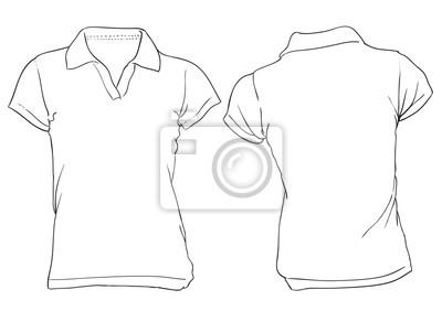 432d56653c427 Branco polo modelo da camisa das mulheres fotomural • fotomurais ...