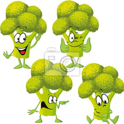 brócolis desenho animado engraçado fotomural fotomurais