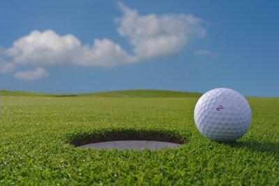 Fotomural buracos de golfe e bola