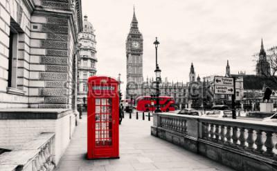 Fotomural Cabine telefônica vermelha em londres