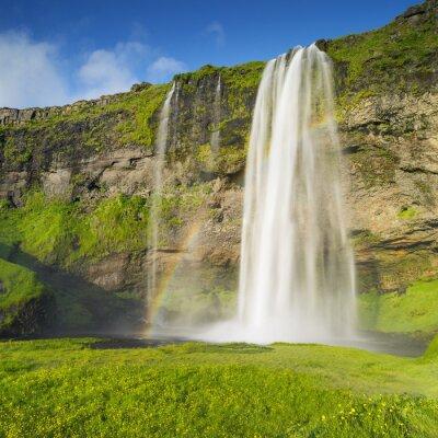 Fotomural Cachoeira e arco-íris na Islândia