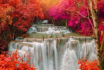 Fotomural Cachoeira, profundo, chuva, floresta, selva, (Huay, mae, kamin,
