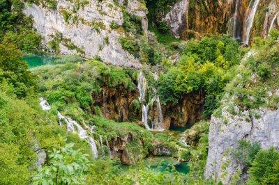 Fotomural Cachoeiras, Plitvice, lagos, nacional, parque, Croácia