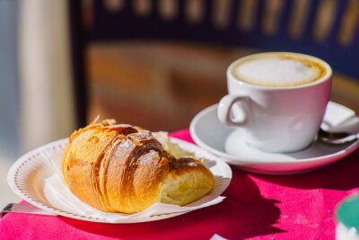 Fotomural Café com croissant