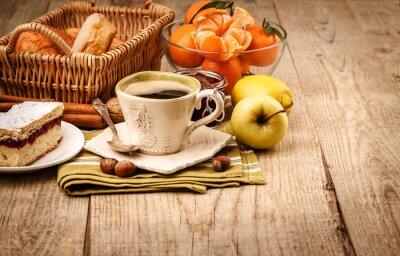 Fotomural Café da manhã com café e frutas
