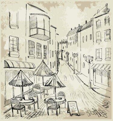 Fotomural Café da rua