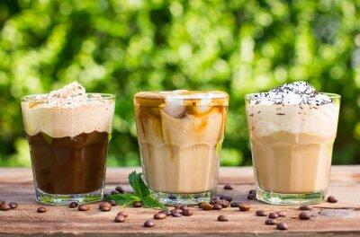 Fotomural Café de gelo com leite e chantilly