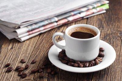 Fotomural Café e jornal