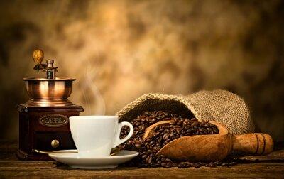 Fotomural Café expresso com moedor de café velho