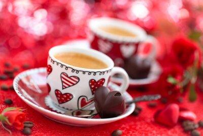 Fotomural Café para o dia de Valentim.