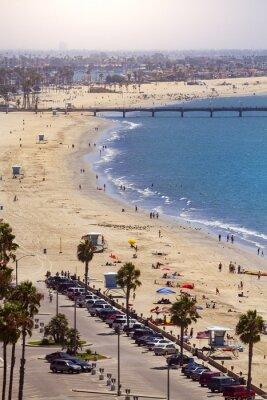 Fotomural Cais em Long Beach, Los Angeles, Califórnia