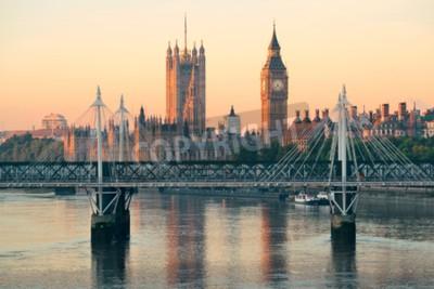 Fotomural Câmara do Parlamento em Westminster, em Londres.