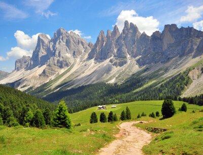 Fotomural Caminhando o trajeto em Alpes
