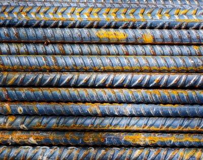 Fotomural Canteiro de obras - Fundo barras de aço