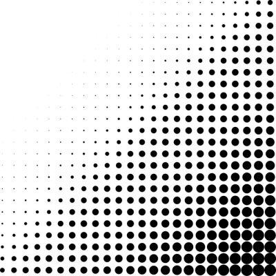 Fotomural Canto de pontos de meio-tom