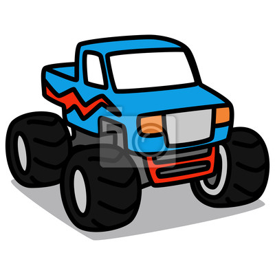 carro dos desenhos animados 23 monster truck fotomural fotomurais