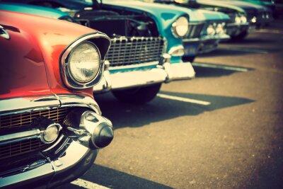 Fotomural Carros clássicos em uma fileira