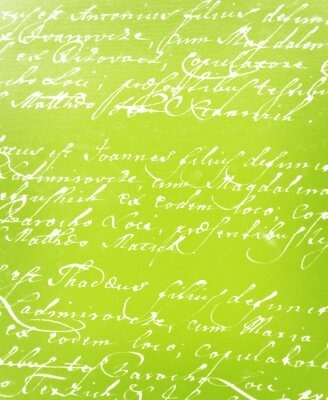 Fotomural carta manuscrita do vintage