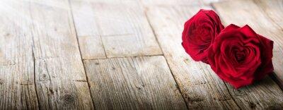 Fotomural Cartão dos Valentim - luz solar em duas rosas no amor