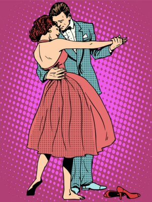 Fotomural Casamento, dança, amantes, homem, mulher