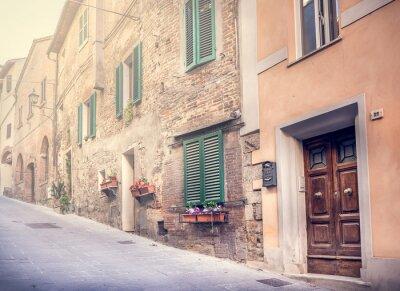 Fotomural Cativante rua do Montepulciano antigo
