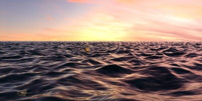 Fotomural Cedo, nascer do sol, panorama, oceânicos, ondas