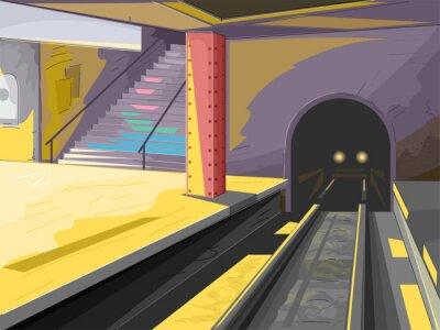 Fotomural Cena do metrô