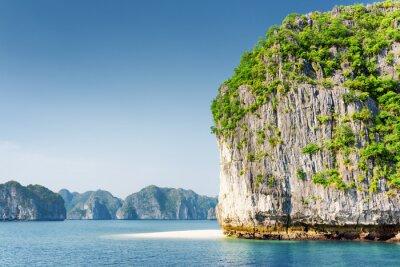 Fotomural Cénico, karst, torre, ilha, branca, selvagem, praia, Ha, longo, baía