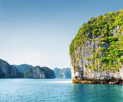 Fotomural Cénico, karst, torre, ilha, Ha, longo, baía, vietnã