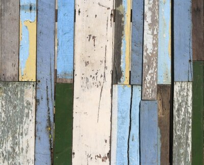 Fotomural Cerca de madeira velha