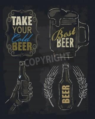 Fotomural Cerveja giz