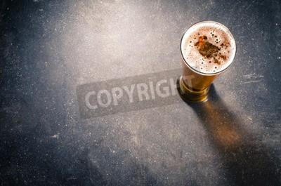 Fotomural Cerveja, vidro, escuro, tabela