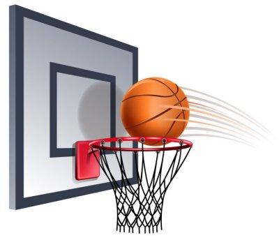 Fotomural cesta de basquete