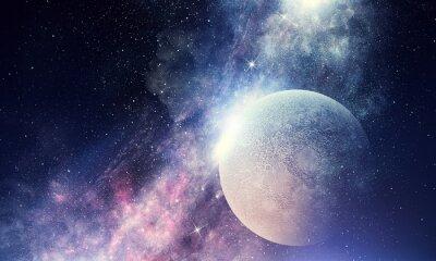 Fotomural Céu estrelado e lua.
