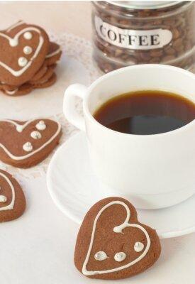 Fotomural Chávena de café e biscoitos de chocolate