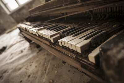 Fotomural Chernobyl - close-up of an old piano