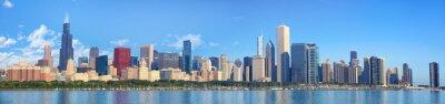 Fotomural Chicago skyline panorama com o lago Michigan, IL, Estados Unidos