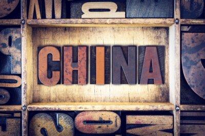 Fotomural China Tipo de letra Letterpress