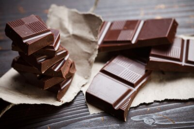 Fotomural Chocolate with rustic paper