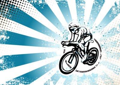 Fotomural ciclismo retro cartaz fundo
