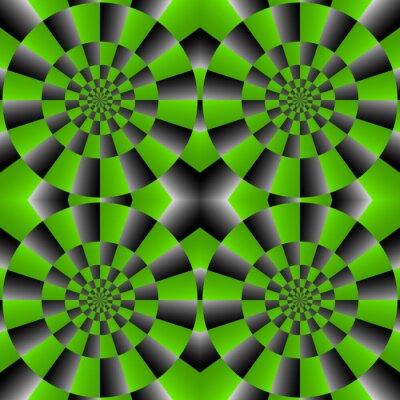 Fotomural Ciclo Optical Illusion Spin, Vector Padrão Abstrato.